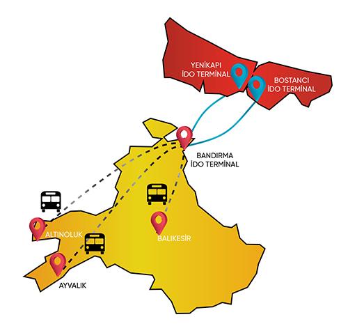 İDO - BTT Ulaşım Haritası